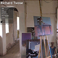 Richard Twose website designed by Fat Graphics
